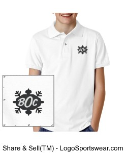 Youth Polo Shirt - BLACK LOGO Design Zoom